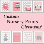 Custom Nursery Prints #Giveaway with Chic Wall Art