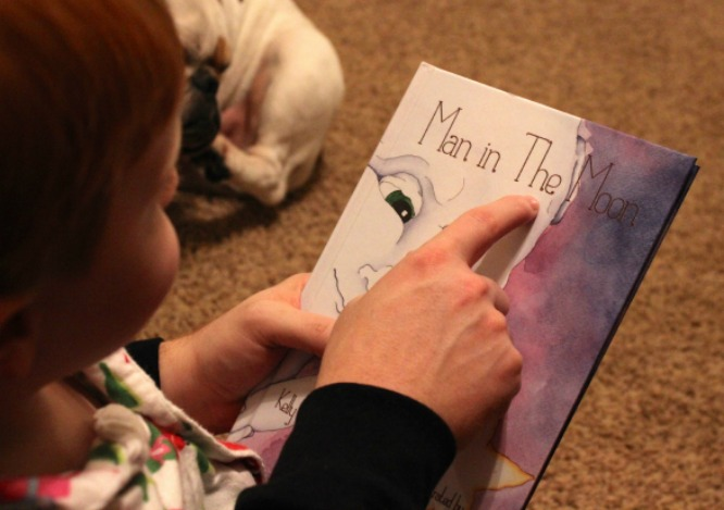 Learning to Read: Man in the Moon Children's Bedtime Story