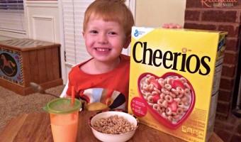 Cheerios and Orange Juice - a good breakfast!