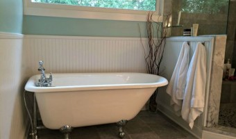 refresh your favorite spaces - mine is my amazing bathtub!