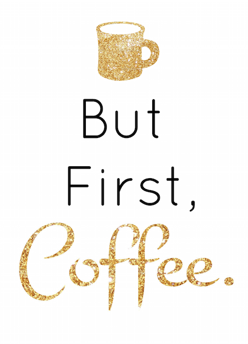 Hang this adorable coffee sign to get your morning started right and to let others know your priorities!