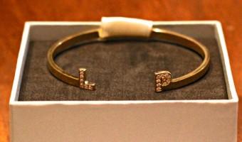 "Pop of ""Nice"": My Personalized Initial Bracelet"