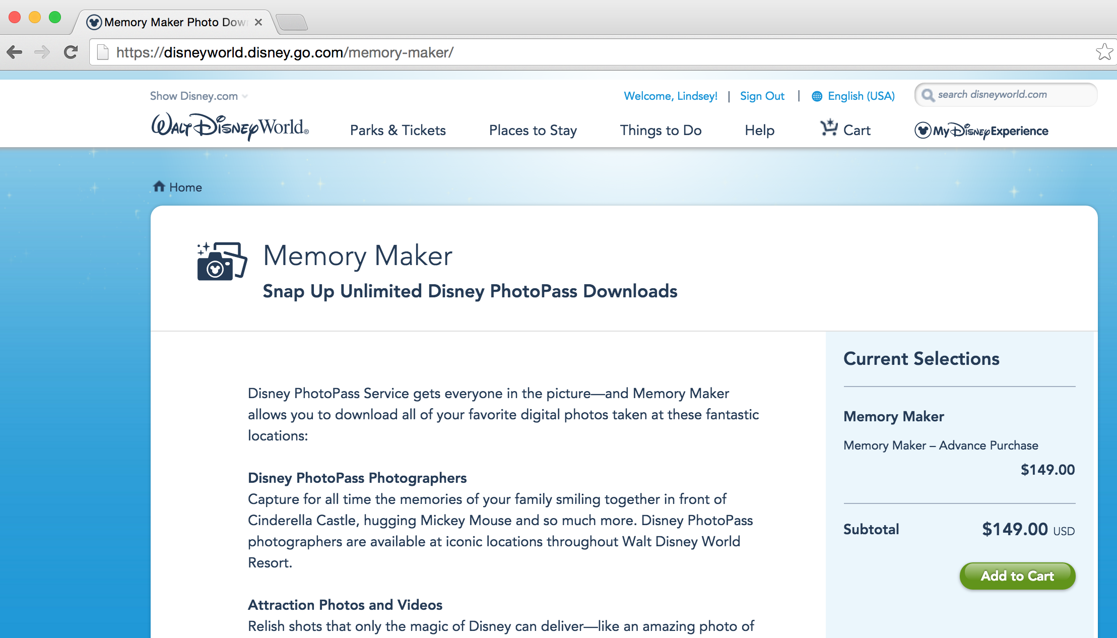 Memory-maker-disney-vacation-screenshot