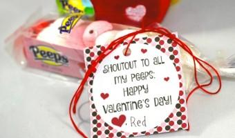 "Valentine Printable- Shoutout to my ""PEEPS®!"""