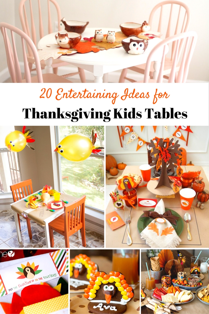 20 Entertaining Ideas for Thanksgiving Kids Tables - Redhead Baby ...