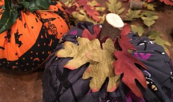 Halloween Fabric Pizza Pan Pumpkins
