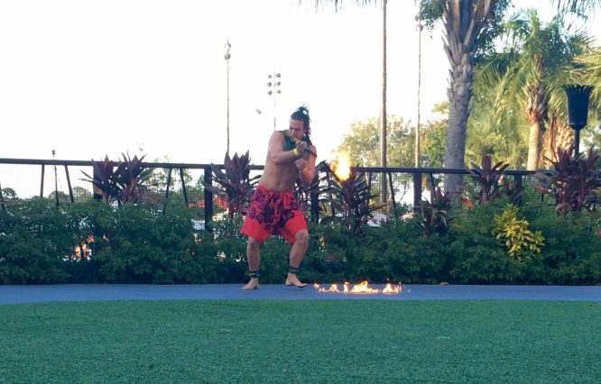 Torch Lighting Ceremony at Disney's Polynesian Hotel and Resort