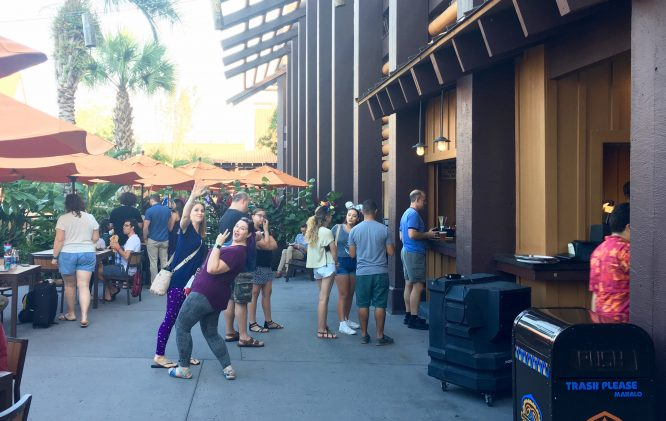 Trader Sam's Walk Up Bar on the Patio; Spiked Dole Whips!