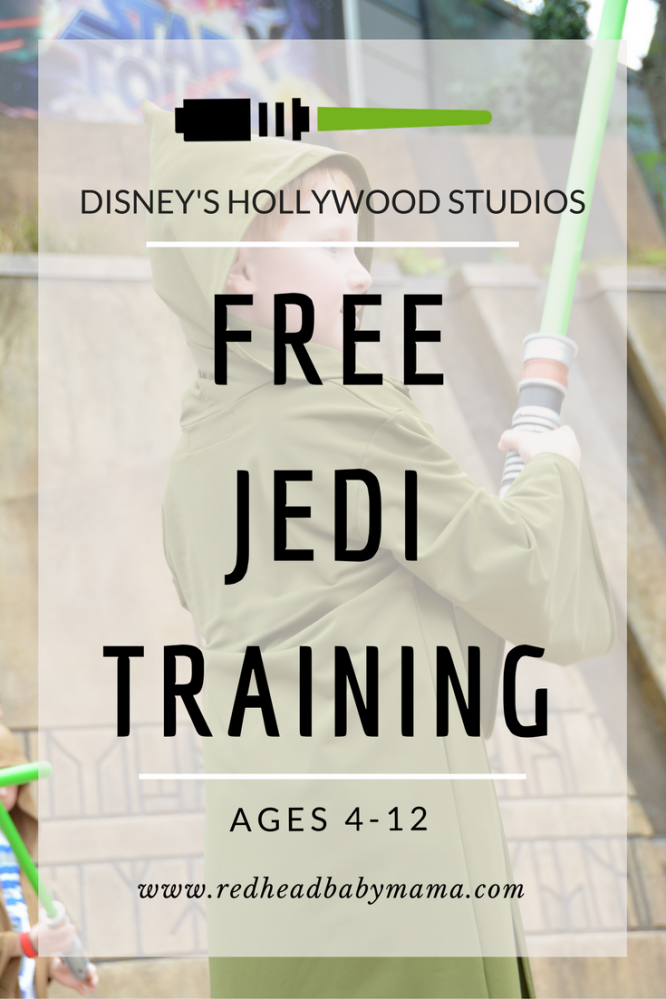 Disney's Hollywood Studios offers FREE Jedi Training for ages 4-12. Defeat a real Star Wars villain!