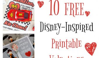 10 Free Disney Inspired Printable Valentines