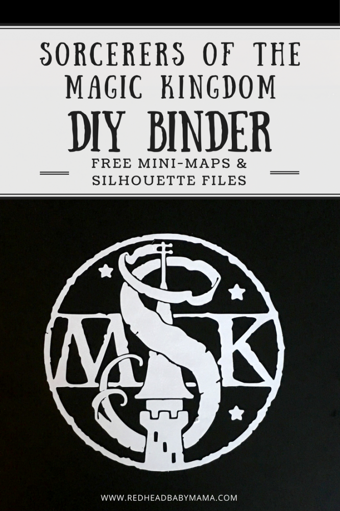 Craft your own DIY Sorcerers of the Magic Kingdom Binder Book to take on your next vacation. FREE Silhouette files and mini-maps included here!