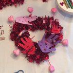 DIY Creative Galaxy Heart Day Hug Wreath
