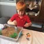 Tumble Leaf Inspired Craft: Sensory Spring Discovery Bin