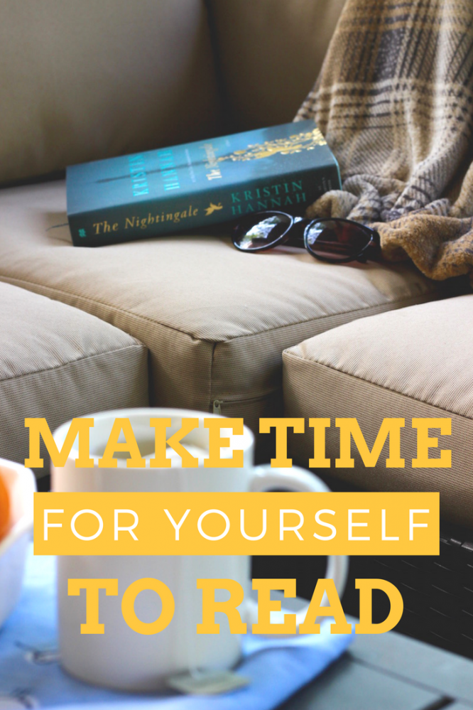 Make time for yourself to get lost in a book. My pick this month: The Nightingale by Kristin Hannah | Redheadbabymama.com