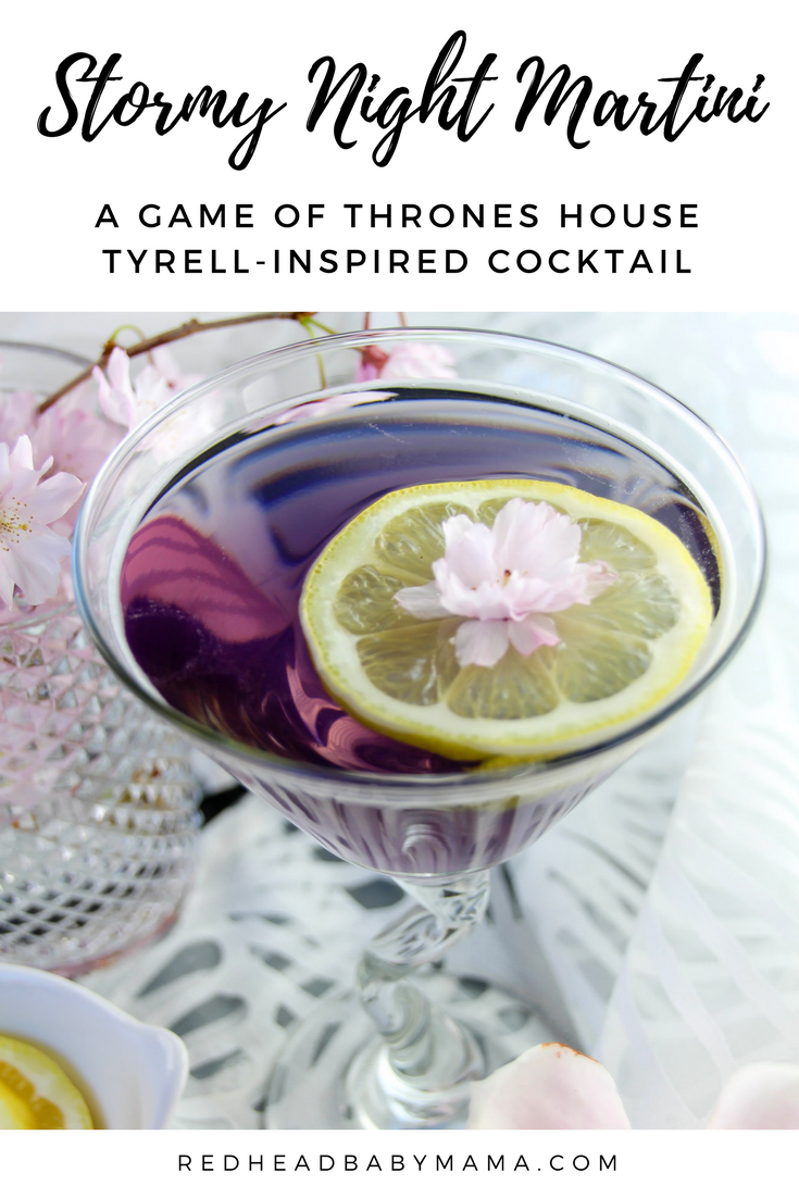 The Stormy Night Martini, a Game of Thrones inspired cocktail for House Tyrell | Redheadbabymama.com