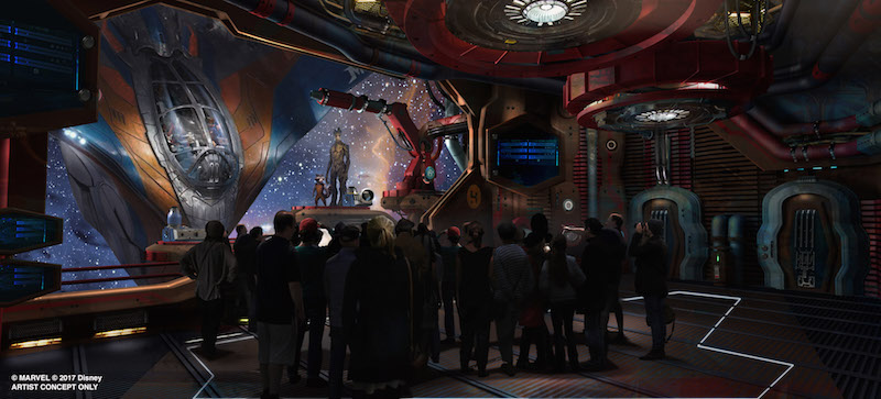 Interior Rendering of Walt Disney Worlds Guardians of the Galaxy Ride in Epcot