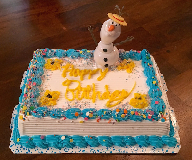 Frozen in Summer Ice Cream Cake with Olaf for a Birthday Party sponsored by I Love Ice Cream Cakes