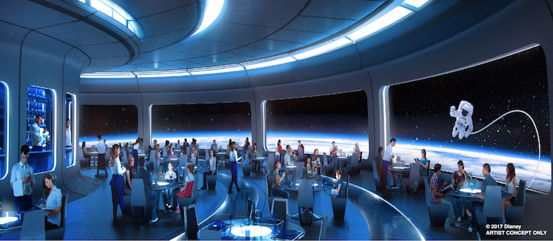 New Mission Space restaurant shows outer space views in Epcot Future World