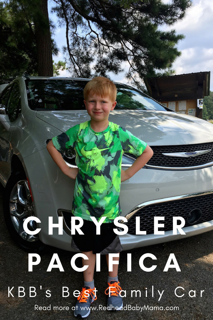 KBB's Best Family Car, the Chrysler Pacifica, ranking for Best Family Car. See what Red thought of it, from a kid-approved angle! | Redheadbabymama.com