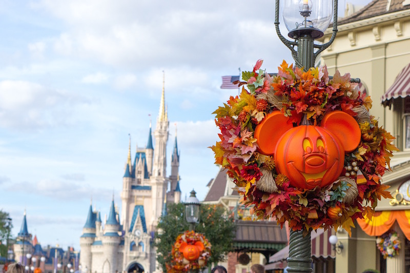 Fall Halloween Decorations at Mickey's Not So Scary Halloween Party