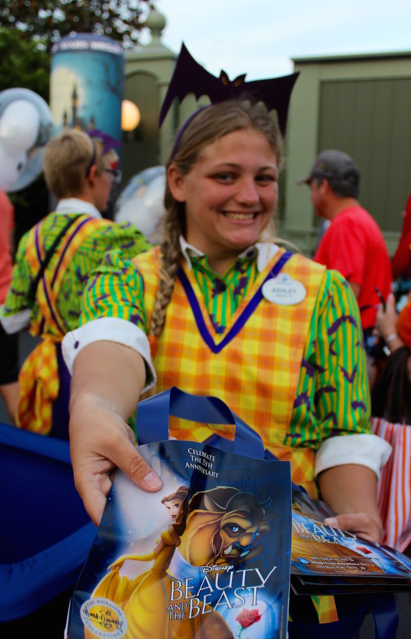 Don't bring a bag for Trick or Treating at Allergy Friendly Trick or Treating at Mickey's Not So Scary Halloween Party