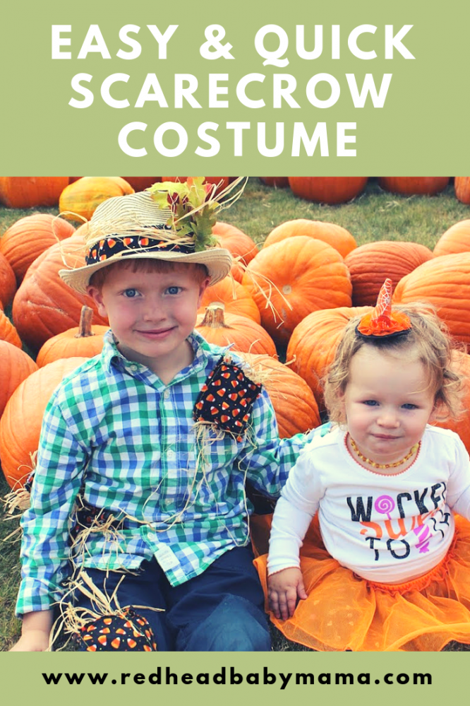quick and easy scarecrow costume