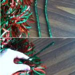Pinterest Project: Tinsel Garland Christmas Wreath