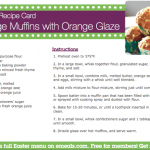 YUM! @eMeals Easter Orange Muffins (& discount!!)