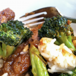 Chinese Beef and Broccoli with Steamed Rice