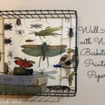 Wall Art with Printed Paper & A Wire Basket