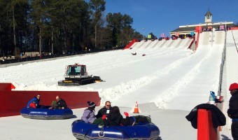 Find some fun in the family Avalanche tubes at Snow Mountain