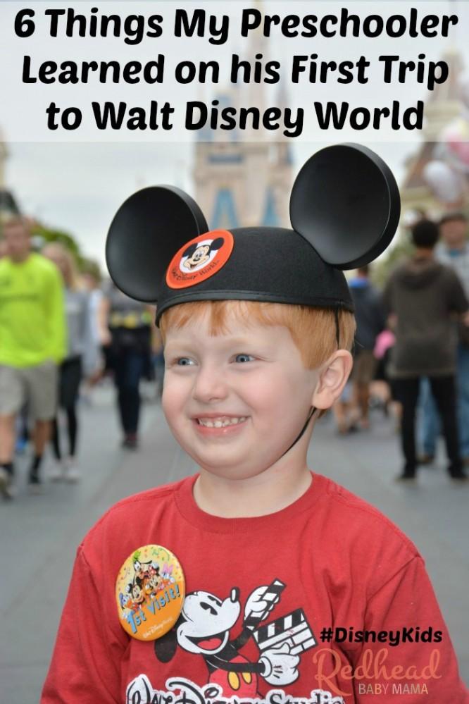 6 Things My Preschooler Learned on his First Trip to Walt Disney World #DisneyKids