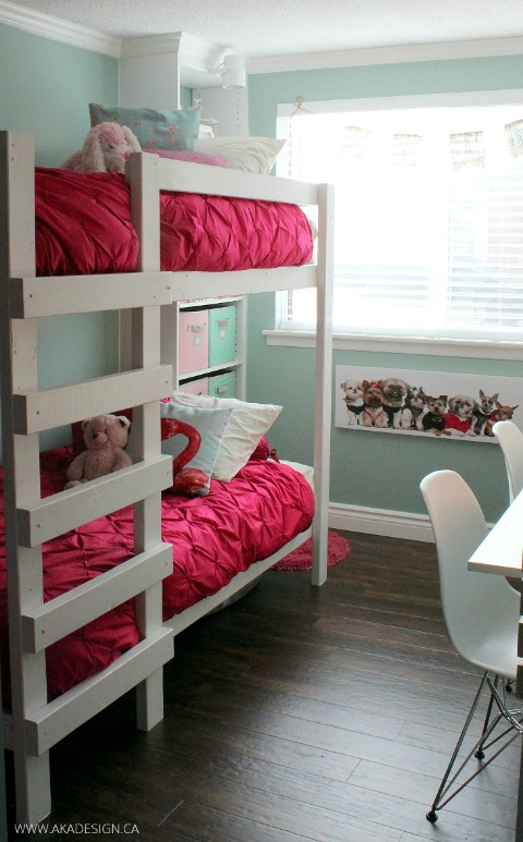 GIRLS-ROOM-MAKEOVER-BUNK-BEDS