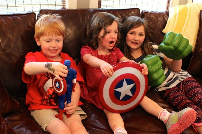 Kids LOVE superheros! #AvengersUnite