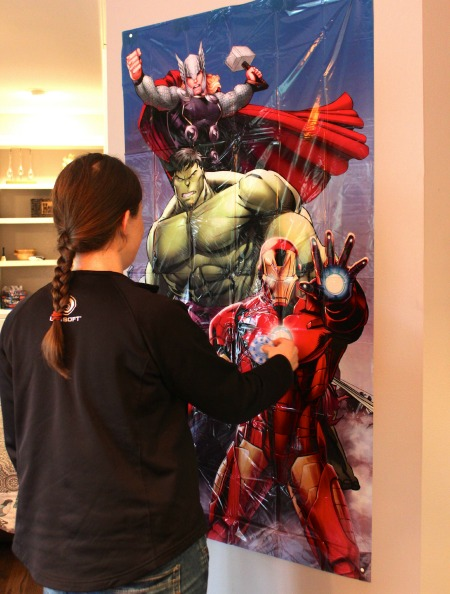 Pin the Arc Reactor on Iron Man Avengers Party
