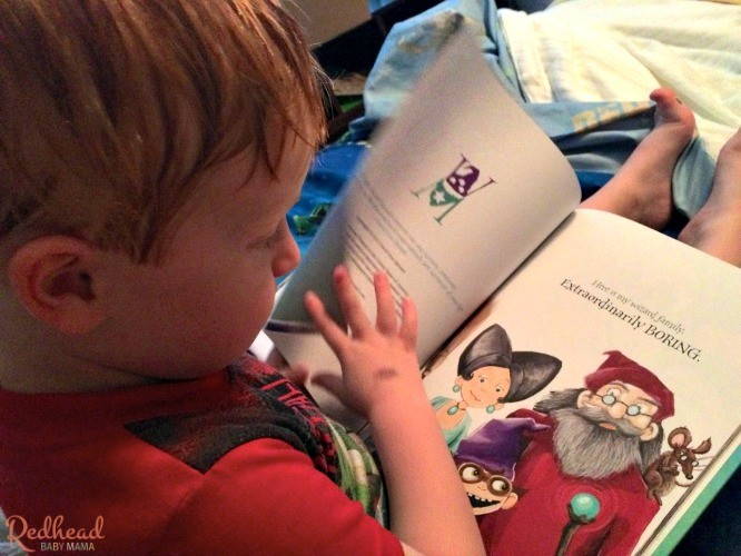 Reading a bedtime story: Weldon Wexford and Murkle Monster