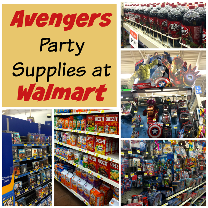 avengers party supplies are available at Walmart. #AvengersUnite
