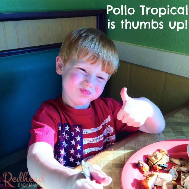 Pollo Tropical Gets a Thumbs Up from our picky eater!