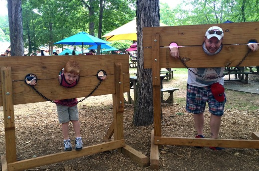 Boys in the Stocks at the Georgia Ren Fest