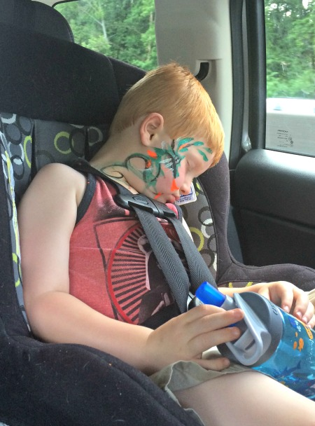 Car Nap home from the Ga Ren Fest