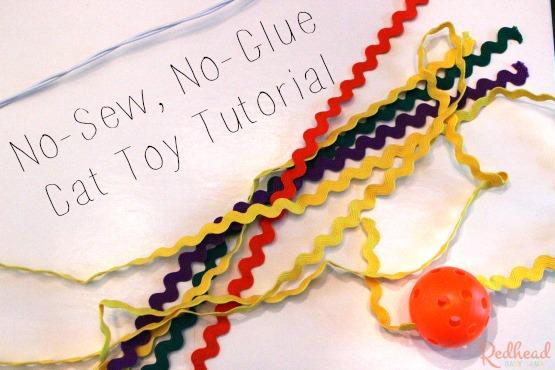 no sew no glue Cat Toy Tutorial #1StopPetShop @Target #ad via @redheadbabymama