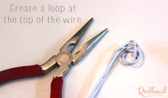 Create a loop of wire with pliers #1StopPetShop #ad