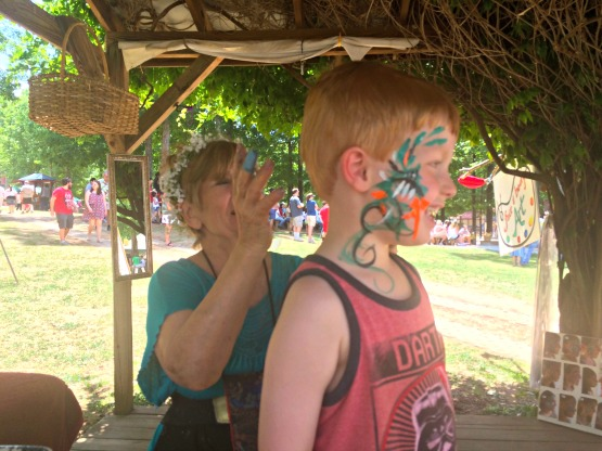Five dollar face paint at the Georgia Ren Fest