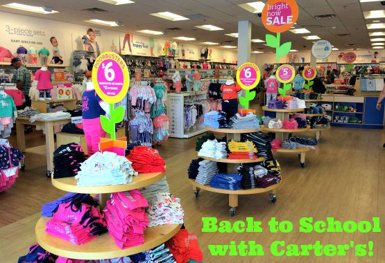 Back to School Clothes with Carters - stock your kid's closets