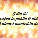 I did it!! Breastfeeding in Public