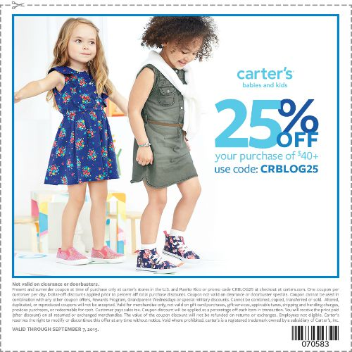 Carters coupon august 2015