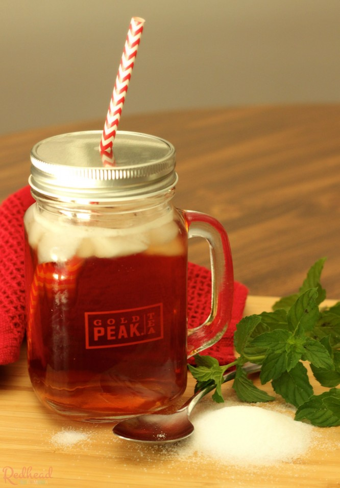 ice cold gold peak tea