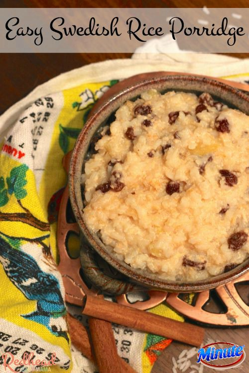 This easy swedish rice porridge is a snap with Minute® Rice!