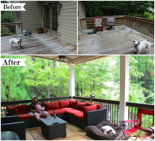 Covered Deck Before and After