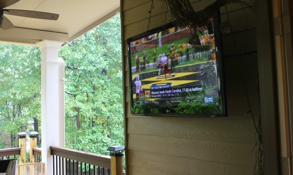 Watch TV on your covered porch!